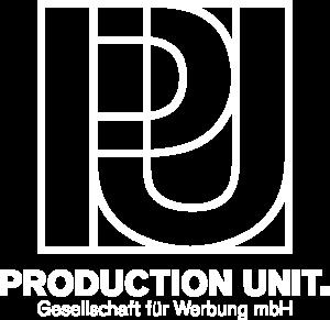 PRODUCTION UNIT. GmbH Logo white